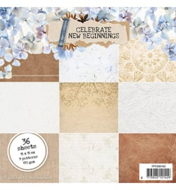 PPCNB160 StudioLight Paper pad Pattern Paper Celebrate new beginnings nr.160