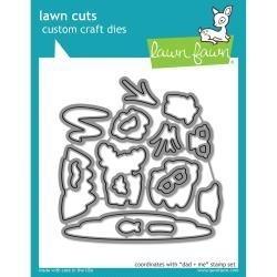 LF1164 Lawn Cuts Custom Craft Die Dad + Me