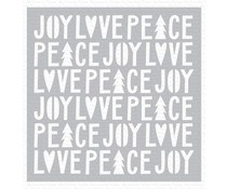 ST-124 My Favorite Things Peace, Love, and Joy Stencil