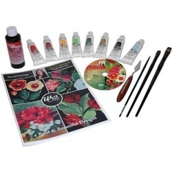 132755 Donna Dewberry Beginner Floral Painting With Oil Set