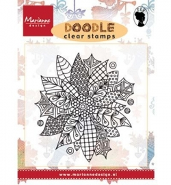 EWS2222 Stempel Doodle Poinsettia