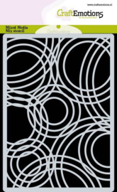 185070/0301 CraftEmotions Mask stencil achtergrond Triple cirkels A6