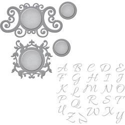 SDS036 Spellbinders Stamp & Die Set Royale Monogram Set