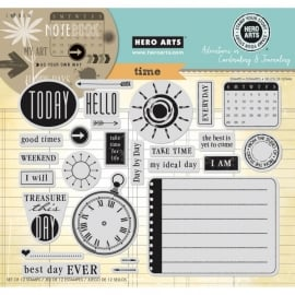 HA-AC029 Hero Arts Cling Stamps Time