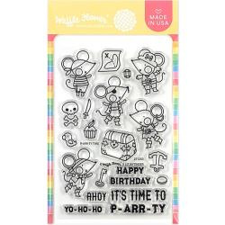 """596473 Waffle Flower Crafts Clear Stamps P-arr-ty Time 4""""X6"""""""