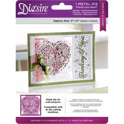 "375992 Die'ssire Create-A-Card Interchangeable Die Floral Lace, 5""X5"""