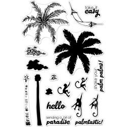 "594810 Hero Arts Clear Stamps Color Layering Palm Tree 4""X6"""