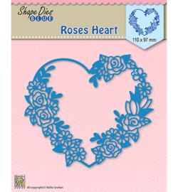 SDB006 Shape Dies Roses heart