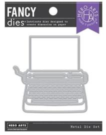 652510 Hero Arts Fancy Dies Typewriter