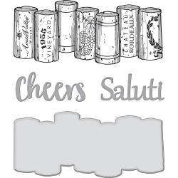 SDS132 Spellbinders Stamp & Die Set Wine Corks
