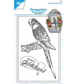 6410/0536 Joy! Crafts Clear stempel Geertje Grasparkiet