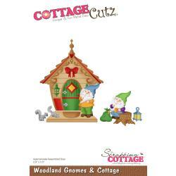 """540411 CottageCutz Die Woodland Gnomes & Cottage 2.9""""X3.5"""""""
