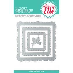 541759 Elle-Ments Dies Wonky Squares Frames