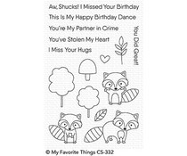 CS-332 My Favorite Things Friendly Raccoons Clear Stamps