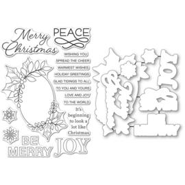 CL5273D Memory Box Stamp & Die Set Festive Christmas Greetings