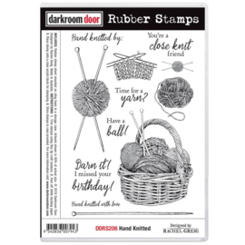 "DDRS206 Darkroom Door Cling Stamps Hand Knitted 7.3""X5.1"""