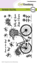 130501/2702 CraftEmotions clearstamps A6 fiets Have a nice day  Connie Westenber