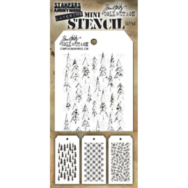 MTS 50 Tim Holtz Mini Layered Stencil Set #50