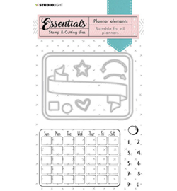 SL-PES-SCD01 StudioLight Stamp & Cutting Die Monthly calendar Planner Essentials nr.01