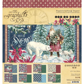 """G4502322 Graphic 45 Double-Sided Paper Pad Let It Snow 8""""X8"""" 24/Pkg"""