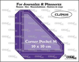 CLJP656 Crealies Journalzz & Pl Pocket Corner M