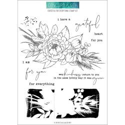 "540428  Concord & 9th Clear Stamps Grateful For Everything 6""X8"""
