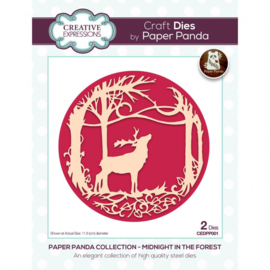 CEDPP001 Creative Expressions Paper Panda dies Midnight forest