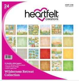 "613415 Heartfelt Creations Double-Sided Paper Pad Wilderness Retreat 12""X12"" 24/Pkg"