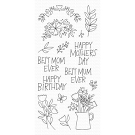 "CS470 My Favorite Things Clear Stamps 4""X8"" Mother's Day Bouquet"