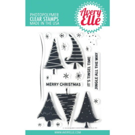 "541778 Avery Elle Clear Stamp Set Quirky Christmas 4""X6"""
