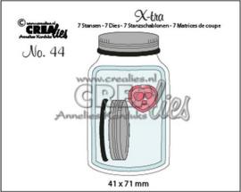 115634/0864 Crealies Xtra glazen pot met deksel middel CLXTRA44 41 x 71 mm