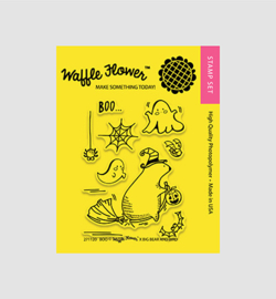 **Waffle Flower stempel Boo
