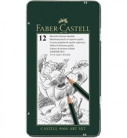 119065 Faber Castell CASTELL 9000 set FC Potlood Artset etui 12-delig
