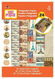 PE12933 Mod Podge Flip Book-Travel