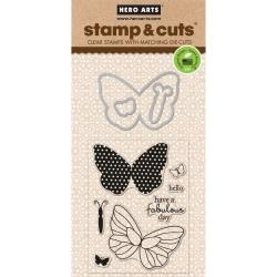 374094 Hero Arts Stamp & Cuts Butterfly