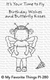 PI-28 0My Favorite Things Pure Innocence Butterfly Kisses Clear Stamps