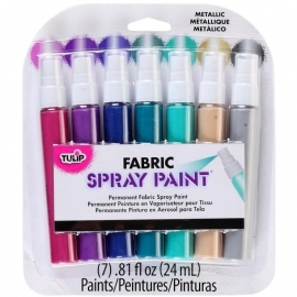 134306 Tulip Fabric Mini Spray Paint Kit Metallic