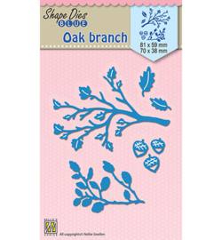 SDB024 Nellie's Choice Shape Die Oak branches