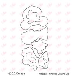 OD27 C.C.Designs Matching Stamp dies Magical Princess