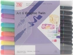 277511 Zig Art & Graphic Twin 12 Color Set Bright