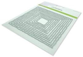 115633/0962 CraftEmotions Big Nesting Die - deckle vierkanten Card 150x160 - 13,1cm