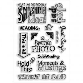 057400 Stampendous Perfectly Clear Stamps Smashing Notes