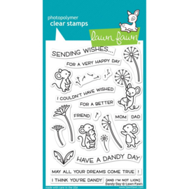 "LF2217 Lawn Fawn Clear Stamps Dandy Day 4""X6"""