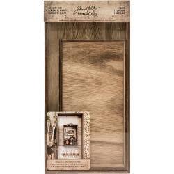 TH93568 Idea-Ology Wooden Vignette Trays Brown 2/Pkg