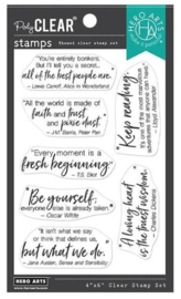 """652514 Hero Arts Clear Stamps Literary Quotes 4""""X6"""""""
