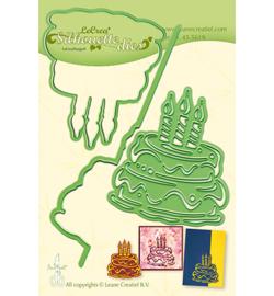 455619 Lea'bilitie Cutting Silhouette Birthday cake