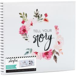 "380272 Heidi Swapp Storyline2 Post Bound Album White Floral 12""X12"""