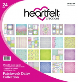 """Heartfelt Creations Double-Sided Paper Pad  Patchwork Daisy 12""""X12"""" 24/Pkg"""