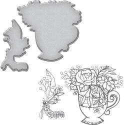 SDS064 Spellbinders Stamp & Die Set Teacup