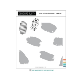 """655433 Concord & 9th Clear Stamps Paint Swash Turnabout 6""""X6"""""""
